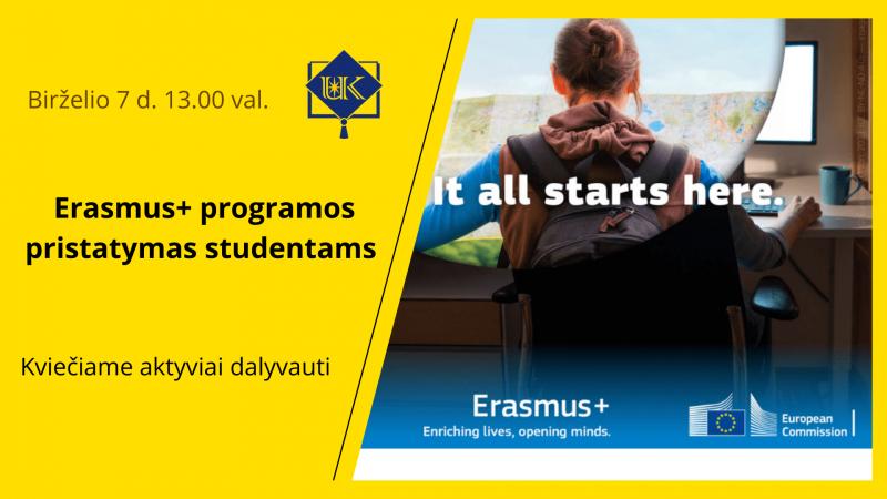 Erasmus+ programos pristatymas
