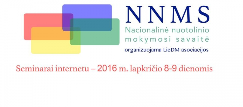 Kviečiame dalyvauti Europos ir nacionalinės nuotolinio mokymosi savaitės vaizdo seminaruose