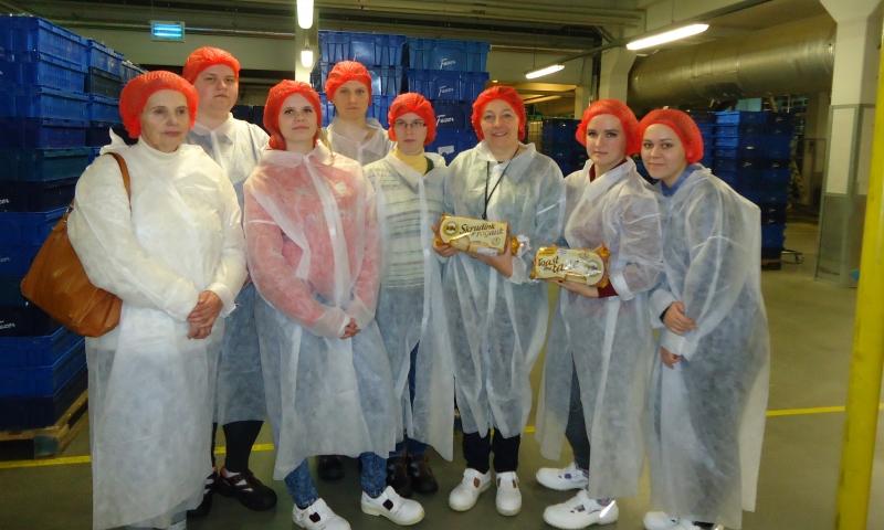 Būsimieji duonos ir duonos gaminių gamybos technologai lankėsi įmonėje Fazer Latvija, SIA