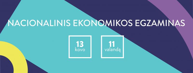 """Pirmą kartą organizuojamas ,,Nacionalinis ekonomikos egzaminas"""" (papildyta)"""