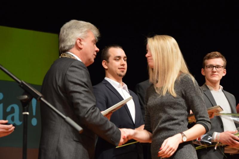 Apdovanota Studentų atstovybės prezidentė G. Vitkelytė