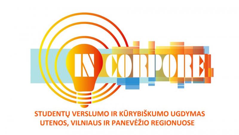 """Studentų verslumo ir kūrybiškumo ugdymo konkursas """"IN CORPORE"""""""