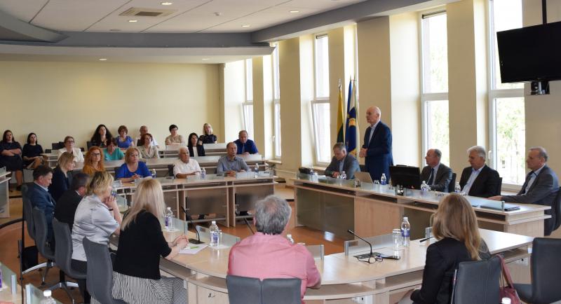Švietimo, mokslo ir sporto viceministro vizitas paskatino bendrai diskusijai