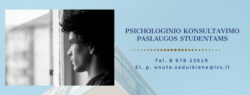 Psichologinės konsultacijos studentams