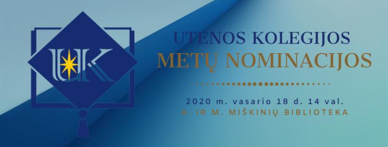 Utenos kolegijos Metų nominacijų įteikimas