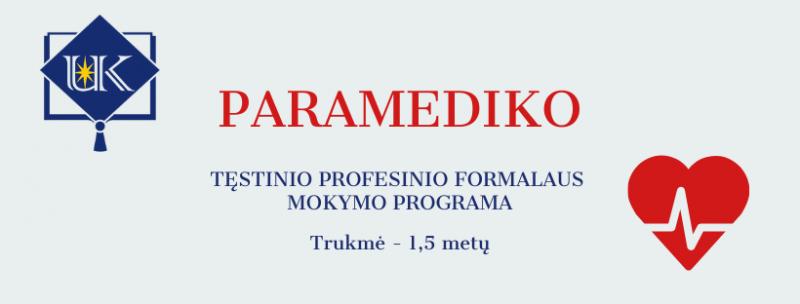 Paramediko profesinio mokymo programa
