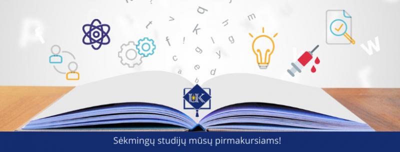 Studijų pradžia I-o kurso studentams